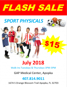 Sports Physical July Flash Sale